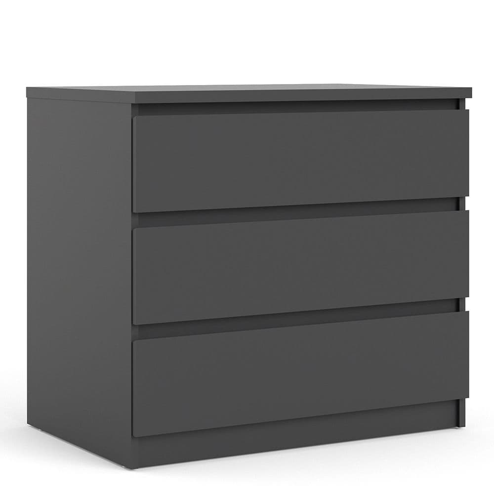 Enzo Chest of 3 Drawers in Black Matte